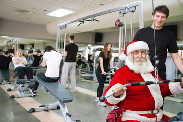 Santa Claus  exercising