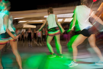 Fitness dance class aerobics