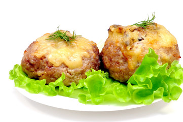 cutlet stuffed with mushrooms