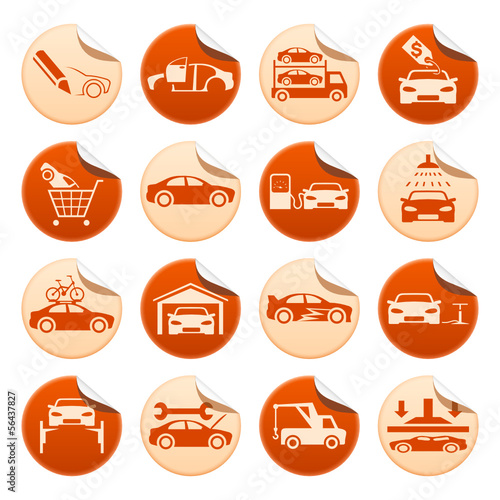 Automotive stickers
