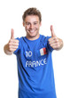 Optimistic french soccer fan