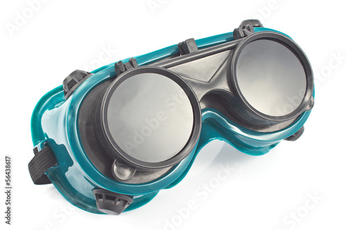 Welding glasses isolated on white