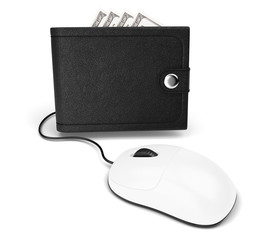 wallet and computer mouse