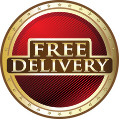 Free Delivery Red Medal