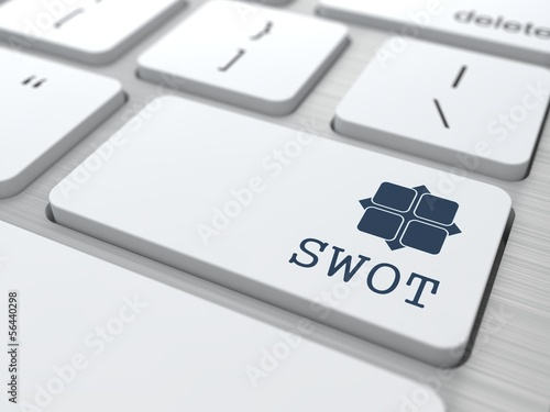 White Keyboard with SWOT Button.