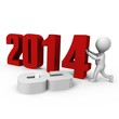 Replacing numbers to form new year 2014 - a 3d image