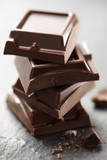 stacked chocolate pieces