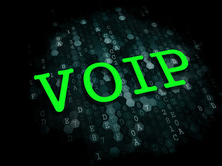 VOIP. Information Technology Concept.