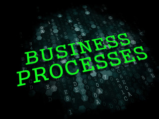 Business Processes. Digital Background.