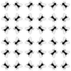 seamless background with flies