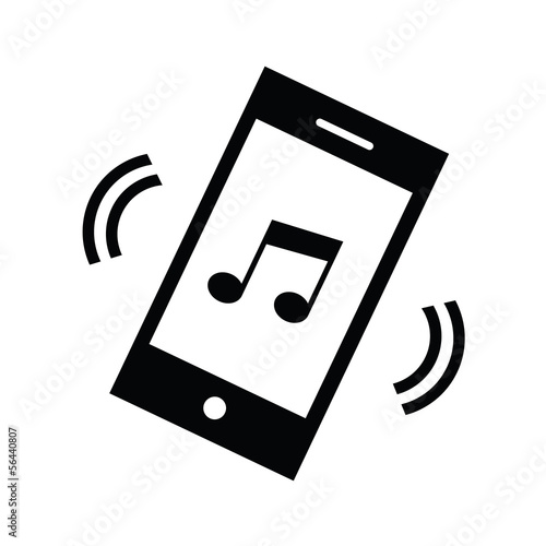Vector Phone Melody Icon
