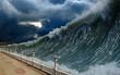 Leinwandbild Motiv Tsunami waves