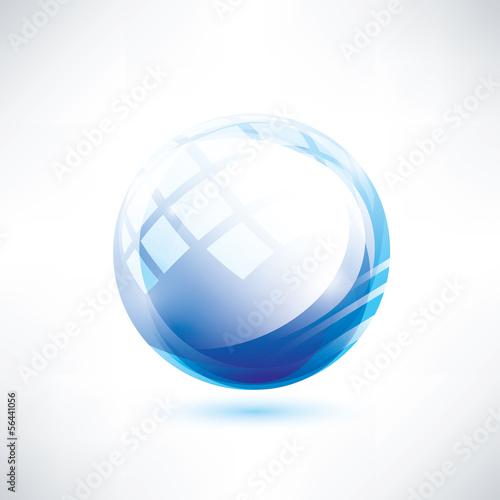 abstract blue glossy circle