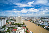 Bird's Eye View of Bangkok from Millennium Hilton Bangkok Hotel