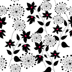 Pattern with flowers graphic quality
