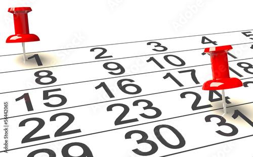 Monat  Kalenderblatt - 56442065