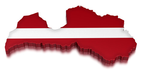 Latvia (clipping path included)