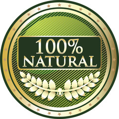 Hundred Percent Natural Label