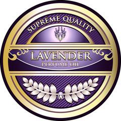 Lavender Perfume Oil Vintage Label