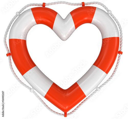 Heart Lifebuoy (clipping path included)