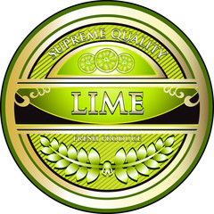 Lime Vintage Label