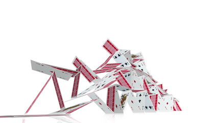 Collapsing house of cards.