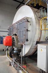 An industrial duel fuel steam boiler