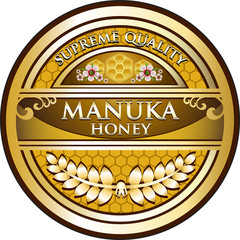 Manuka Honey Vintage Label