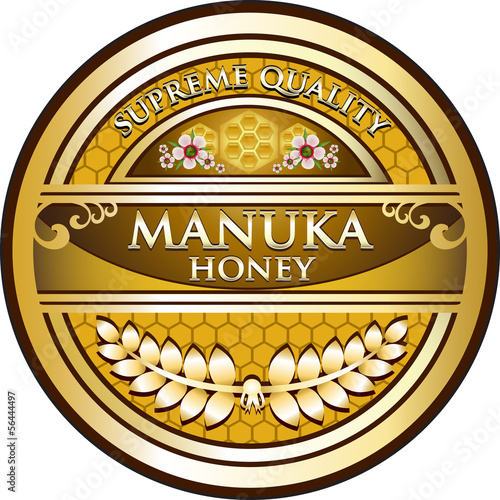 Manuka Honey Vintage Label