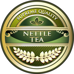 Nettle Tea Vintage Label