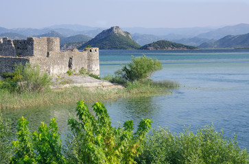 Lesendro Castle on the Skadar Lake National Park, Montenegro