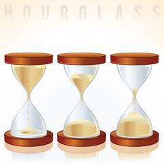 Hourglass. Three Different States.
