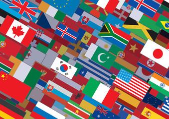 Horizontal Flags Background