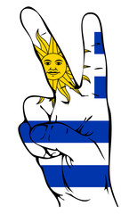 Peace Sign of the Uruguayan flag