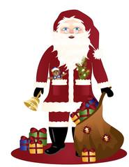Nikolaus auf  weißen Hintergrund