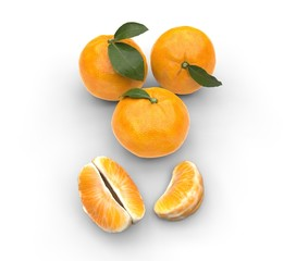 Oranges Top View