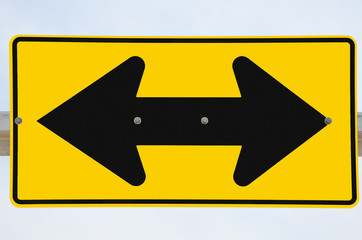 Two-Arrow Sign at an Intersection