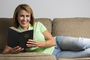 Woman Reading the Holy Bible