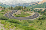 Hairpin Bend in a Mountain Road poster