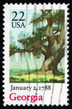 Postage stamp USA 1988 Georgia, Ratification of the Constitution