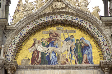 "Mosaic "" The Deposition from the Cross """