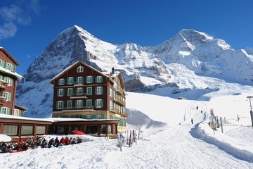 Winter in the Kleine Scheidegg, Swiss Alps