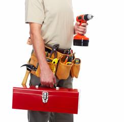 Handyman with a tool belt.