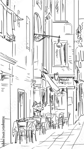 Street in Roma - illustration © ZoomTeam