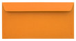 Orange envelope isolated