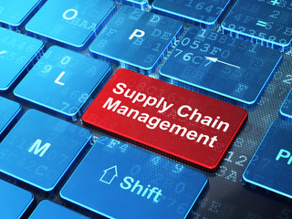Marketing concept: Supply Chain Management on computer keyboard