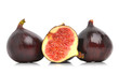 Fresh figs  isolated on the white background