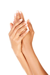 Close up shoot of beautiful female hands