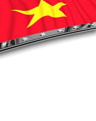 Designelement Flagge Vietnam