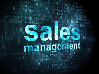 Advertising concept: Sales Management on digital background